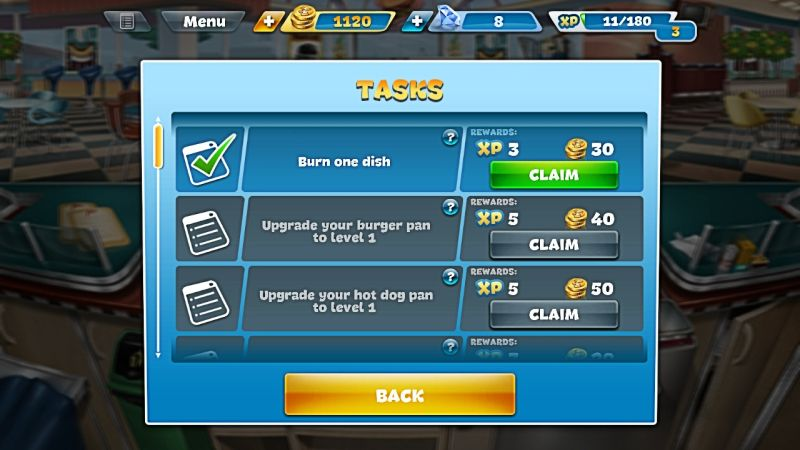 how to complete more tasks in cooking fever