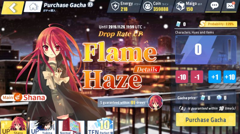 how to rate up gacha in crossing void