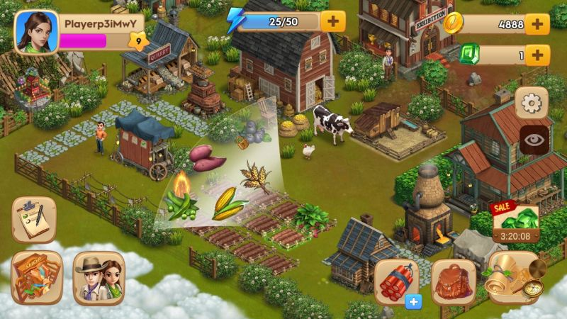 how to harvest crops in emma's adventure california