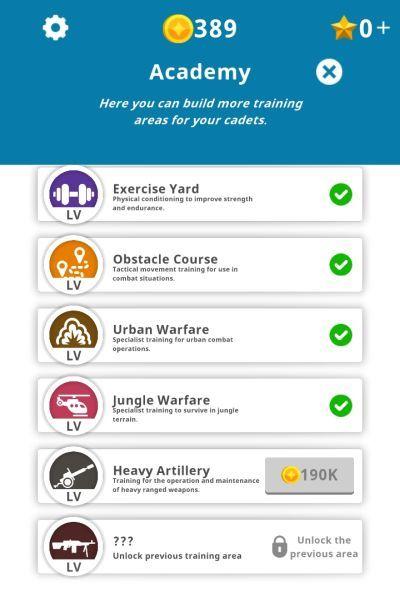 idle army base academy