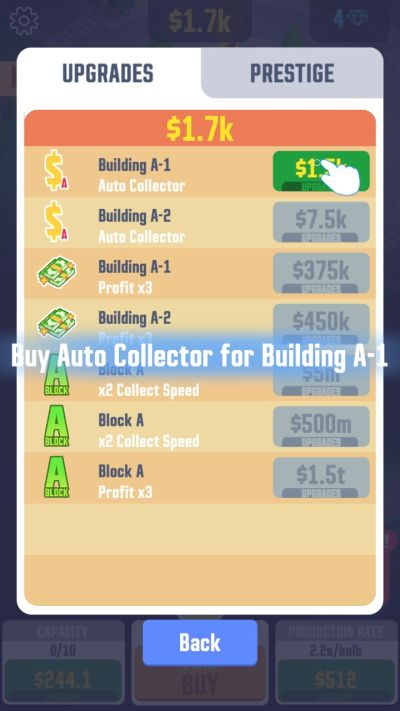 how to auto collect money in idle light city