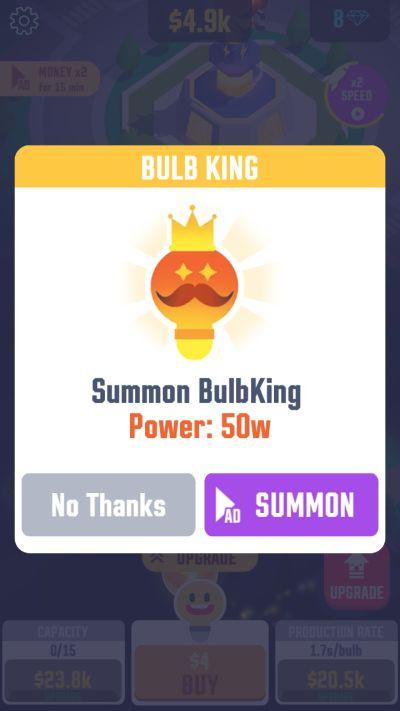 idle light city bulb king