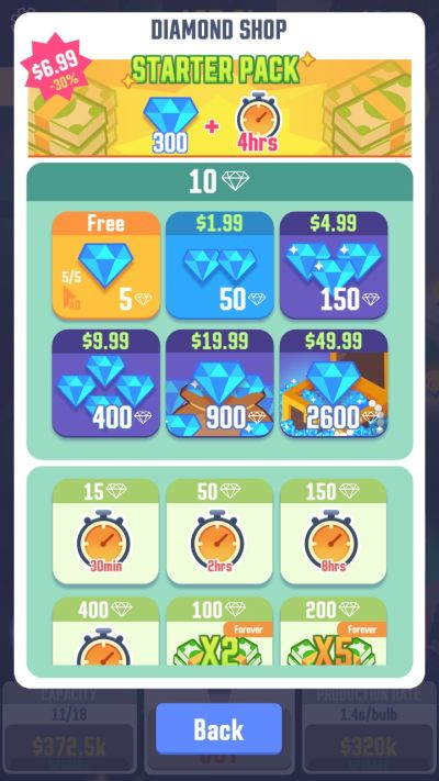 how to earn diamonds in idle light city