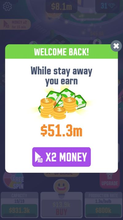 how to increase earnings in idle light city