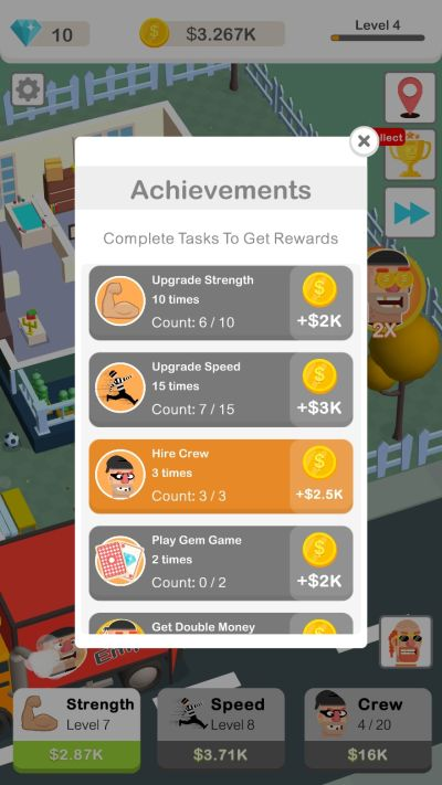 how to earn more rewards in idle robbery