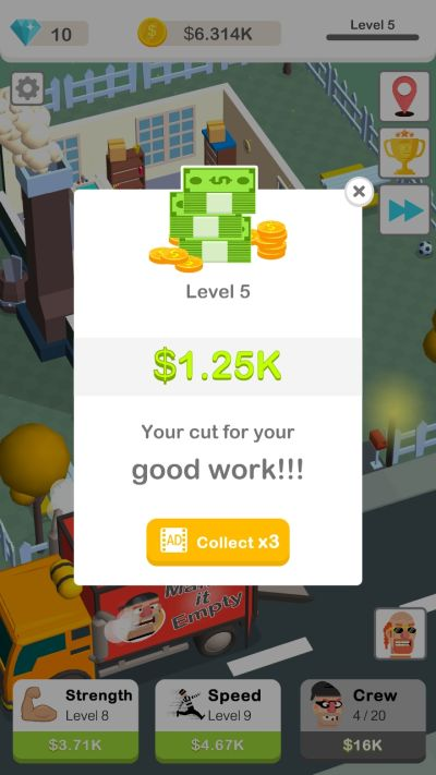 how to level up fast in idle robbery