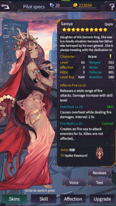 iron saga character stats