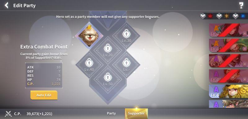lucid adventure support member slots