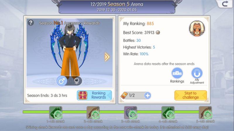 mabinogi fantasy life arena season rewards