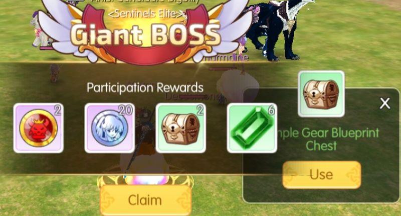 mabinogi fantasy life giant boss rewards