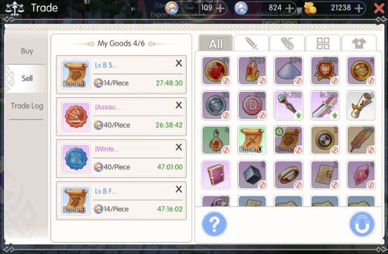 how to trade for nao's seals in mabinogi fantasy life