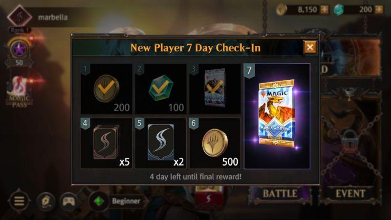 how to get more rewards in magic manastrike