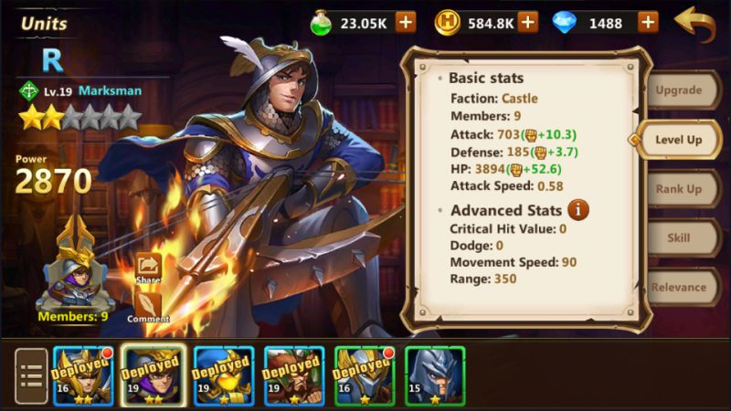 how to make units stronger in might & magic heroes era of chaos