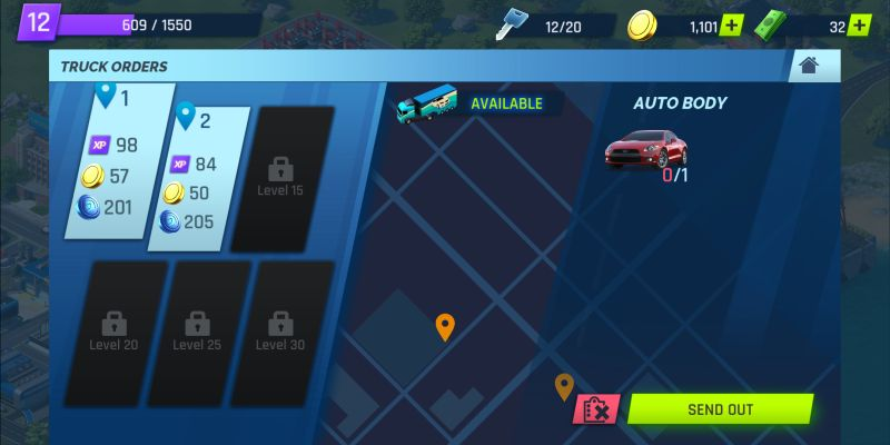 overdrive city truck orders