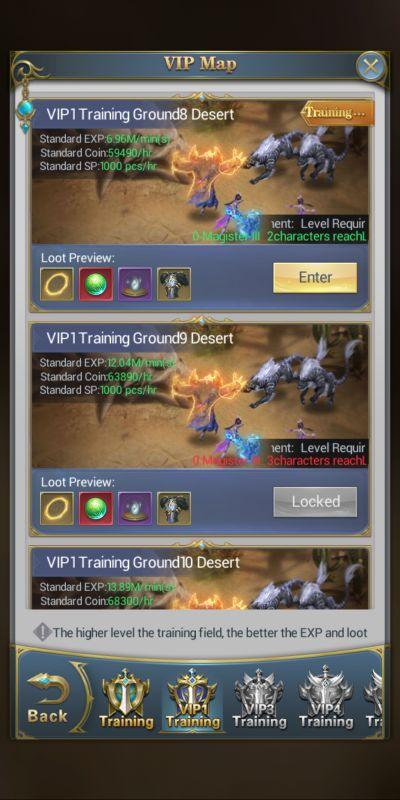 how to unlock training ground levels in soul land awaken warsoul