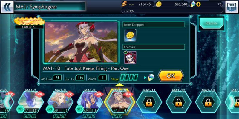 symphogear xd unlimited main quest