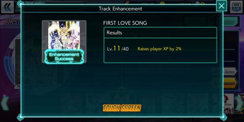 how to enhance tracks in symphogear xd unlimited