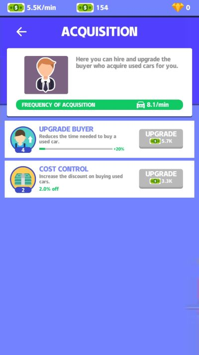 how to upgrade skills in used car dealer