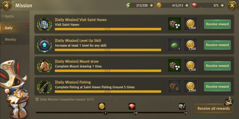 world of dragon nest missions