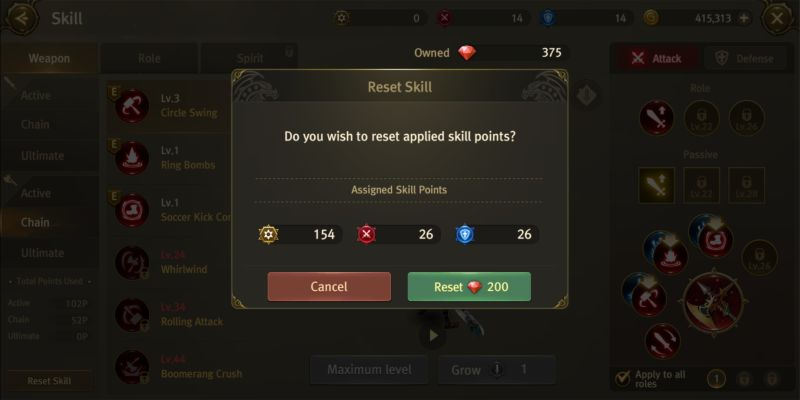 world of dragon nest skill points