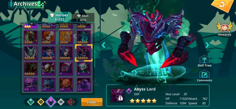 abyss lord calibria crystal guardians