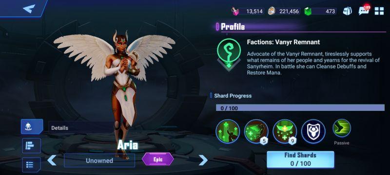 aria crystalborne heroes of fate