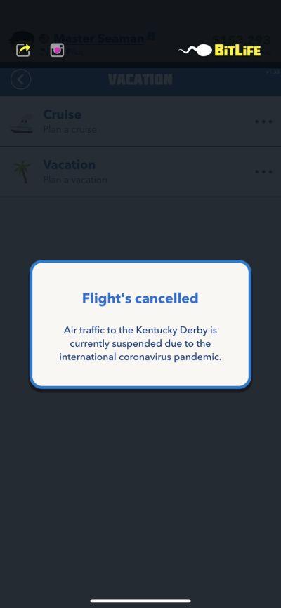 bitlife cancelled flight
