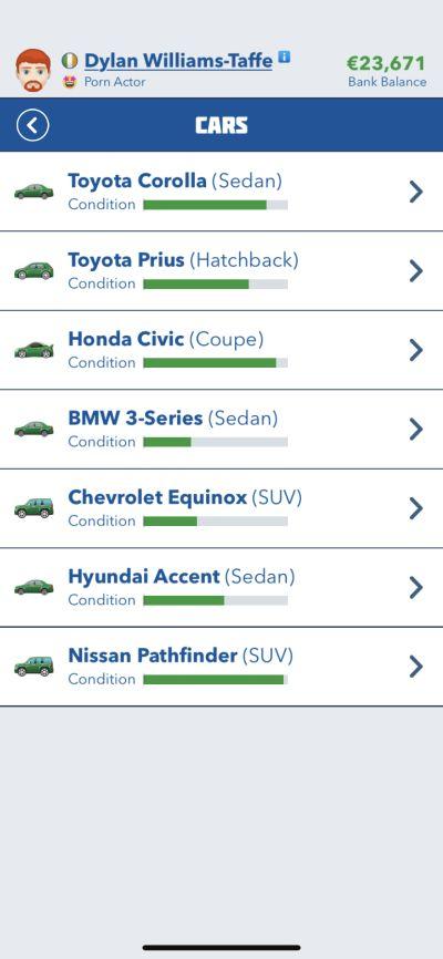 bitlife cars