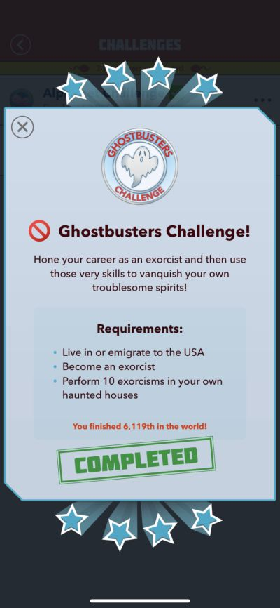 bitlife ghostbusters challenge