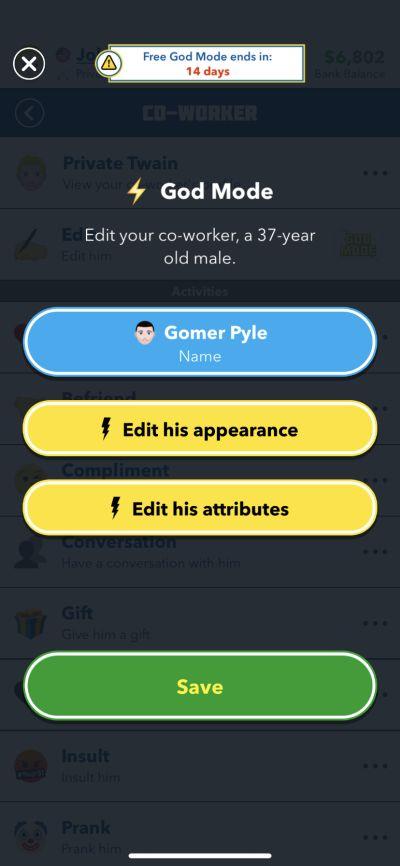 bitlife god mode features