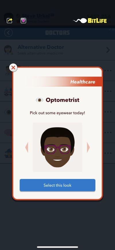 bitlife optometrist