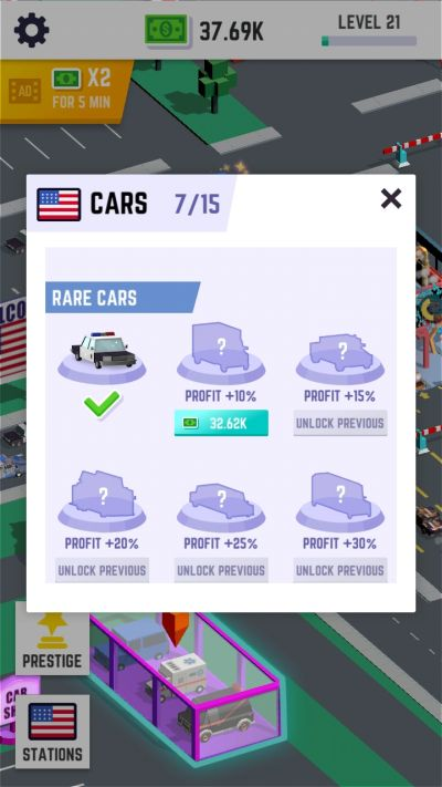 how to unlock cars in car wash empire