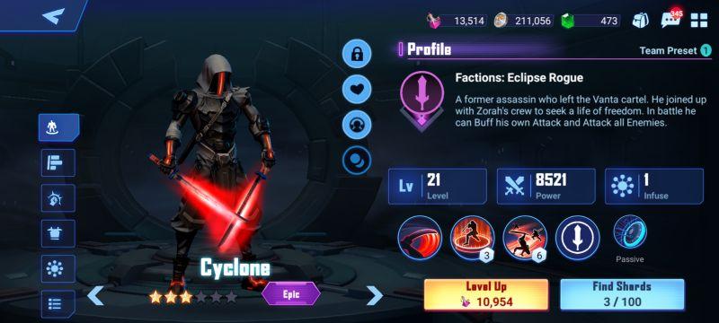 cyclone crystalborne heroes of fate