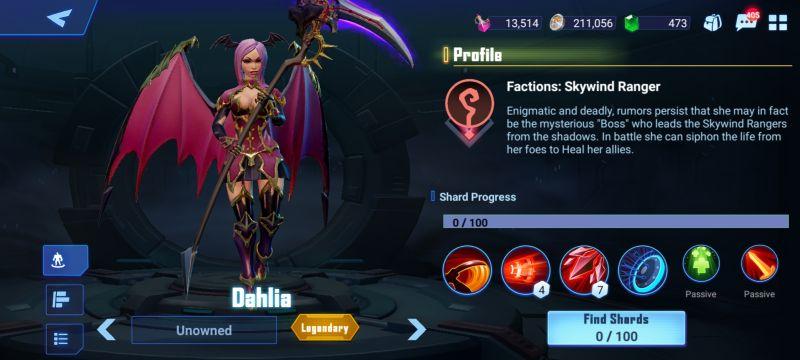 dahlia crystalborne heroes of fate