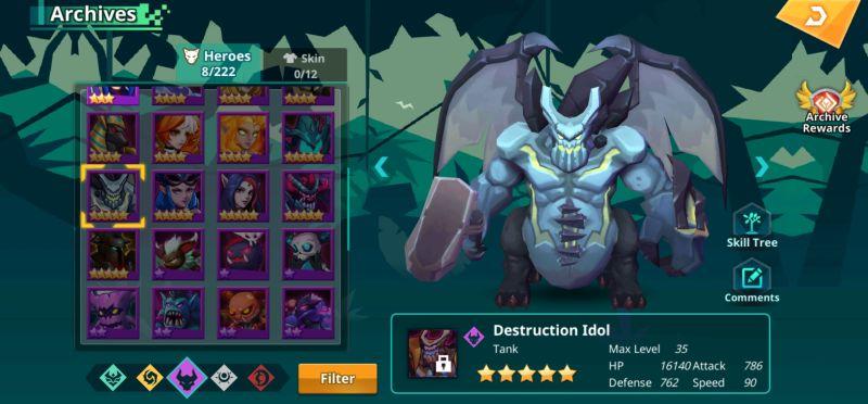 destruction idol calibria crystal guardians