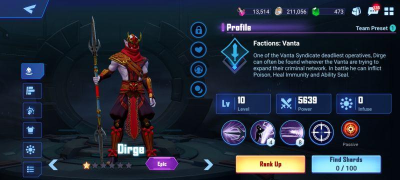 dirge crystalborne heroes of fate