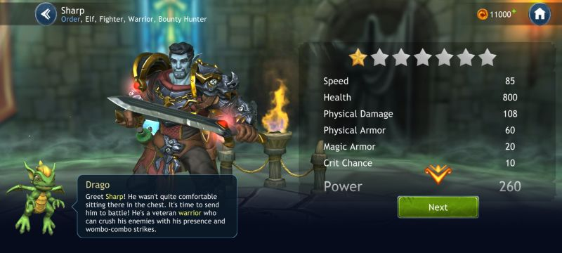 how to unlock and upgrade heroes in dragon champions