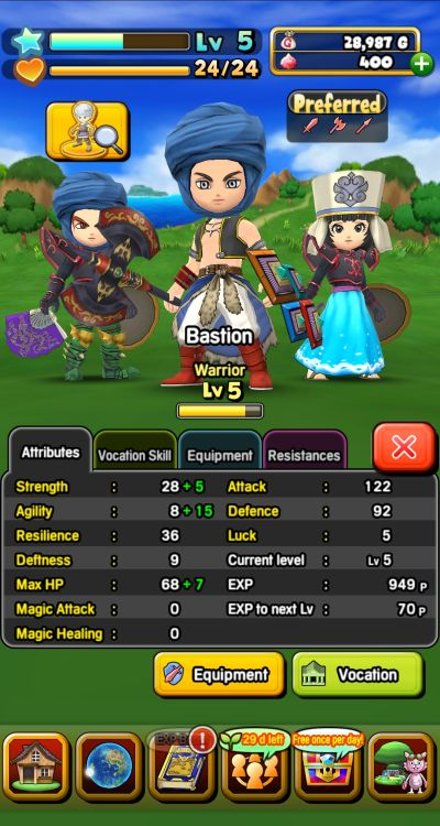 dragon quest of the stars vocations