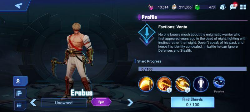 erebus crystalborne heroes of fate