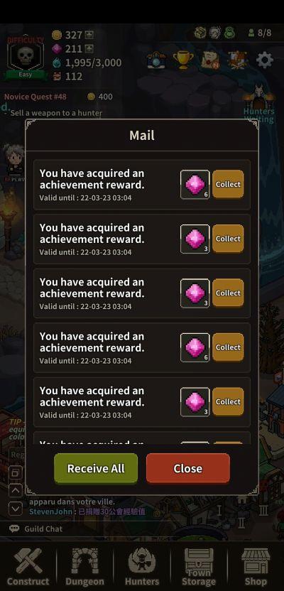 evil hunter tycoon achievements