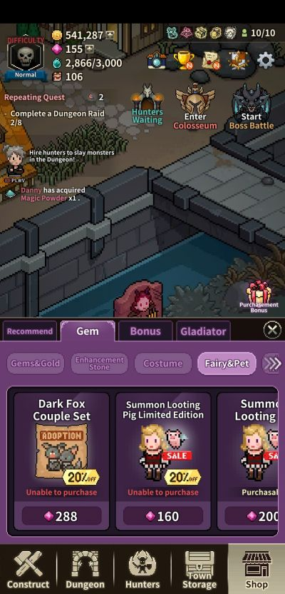 how to spend gems in evil hunter tycoon