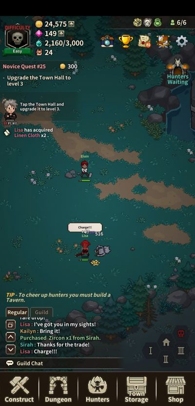 how to complete quests in evil hunter tycoon