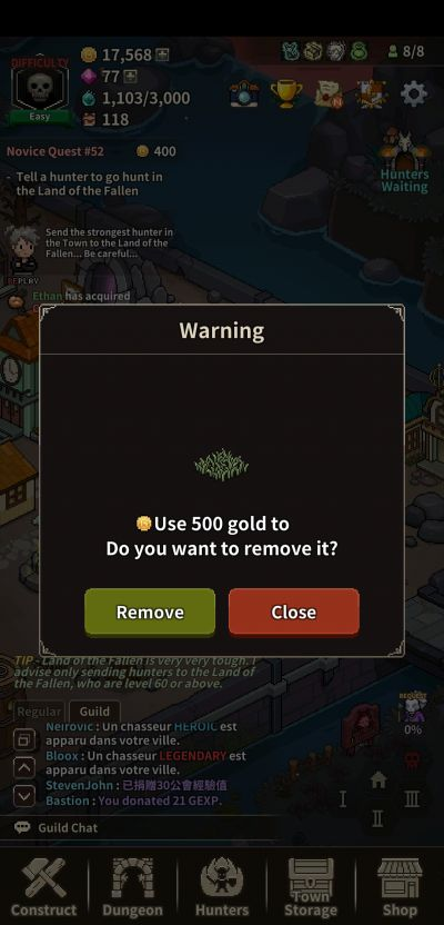 how to keep town organized in evil hunter tycoon
