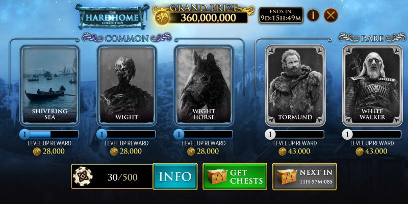 how to collect and upgrade cards in game of thrones slots casino