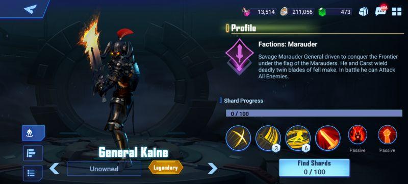 general kaine crystalborne heroes of fate