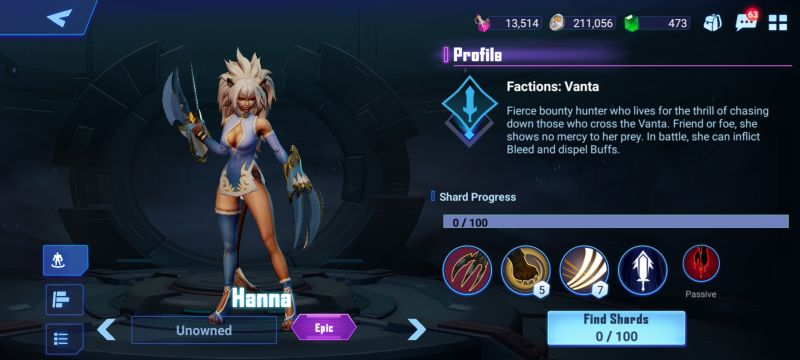 hanna crystalborne heroes of fate