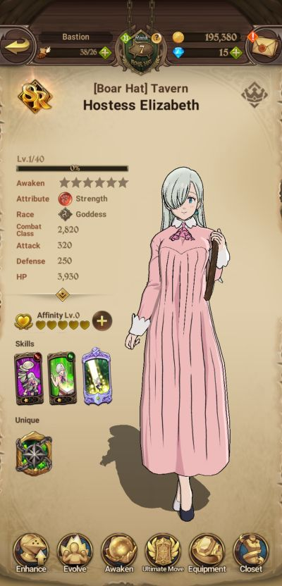 healers class in the seven deadly sins grand cross