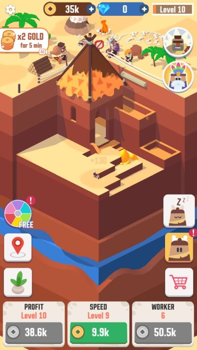 how to keep workers active in idle digging tycoon