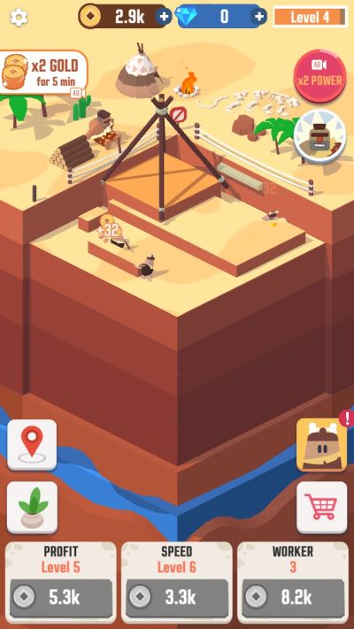 how the digging process works in idle digging tycoon