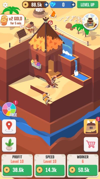 how to level up in idle digging tycoon